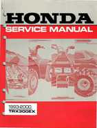 1993-2000 Honda TRX300EX Service Manual