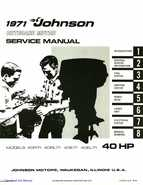1971 Johnson 40HP outboards Service Manual