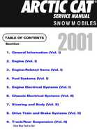 2001 Arctic Cat Snowmobiles Factory Service Manual