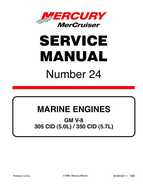 Mercury Mercruiser GM V-8 305 CID / 350 CID Engines Service Manual